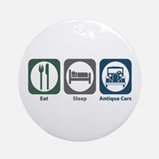 Eat Sleep Antique Cars Ornament (Round)