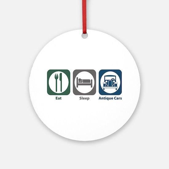 Eat Sleep Antique Cars Ornament (Round)