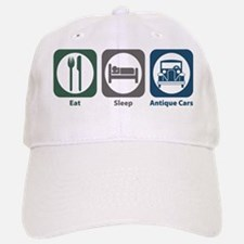 Eat Sleep Antique Cars Baseball Baseball Cap