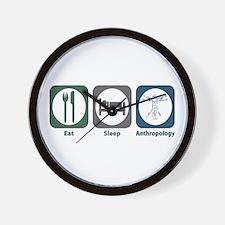 Eat Sleep Anthropology Wall Clock