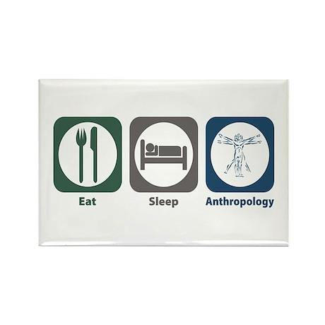 Eat Sleep Anthropology Rectangle Magnet (100 pack)