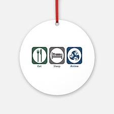 Eat Sleep Anime Ornament (Round)