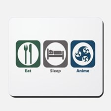 Eat Sleep Anime Mousepad