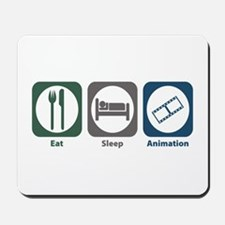 Eat Sleep Animation Mousepad