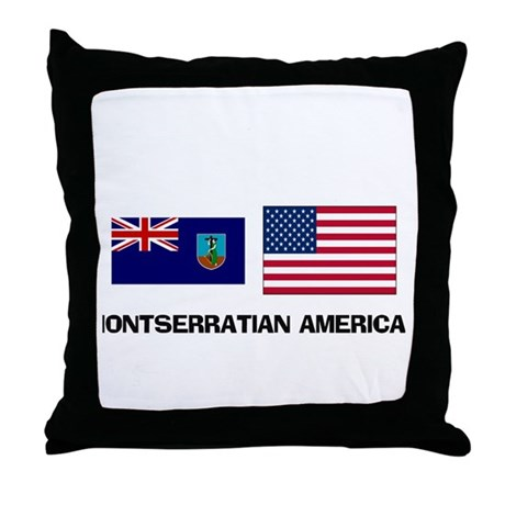Montserratian American Throw Pillow