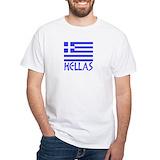 Hellas Mens Classic White T-Shirts