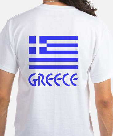 Greece / Hellas Flag of Greece White T-Shirt