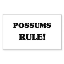Possums Rule Rectangle Decal