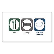 Eat Sleep Animal Science Rectangle Decal