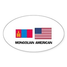Mongolian American Oval Decal