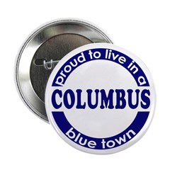 "Columbus: Blue Town 2.25"" Button (100 pack)"