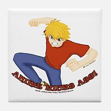 Anime Kicks Ass! Tile Coaster