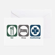 Eat Sleep Anesthesiology Greeting Cards (Pk of 20)