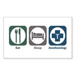 Eat Sleep Anesthesiology Rectangle Sticker