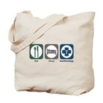 Eat Sleep Anesthesiology Tote Bag