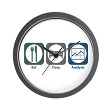 Eat Sleep Analysis Wall Clock
