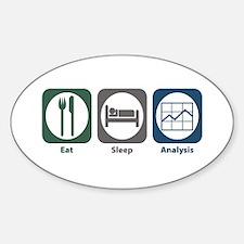 Eat Sleep Analysis Oval Decal