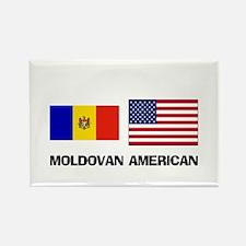 Moldovan American Rectangle Magnet