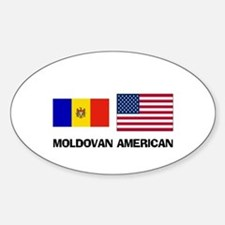 Moldovan American Oval Decal