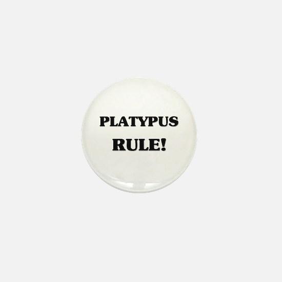Platypus Rule Mini Button
