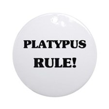 Platypus Rule Ornament (Round)