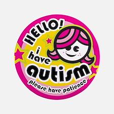"""Hello-Autism (Girl2) 3.5"""" Button"""