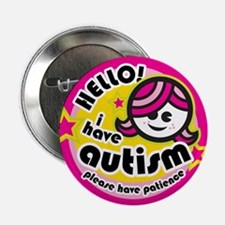 """Hello-Autism (Girl2) 2.25"""" Button (10 pack)"""