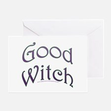Good Witch Text Design Greeting Card