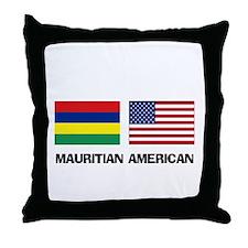 Mauritian American Throw Pillow