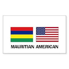 Mauritian American Rectangle Decal