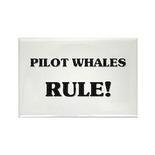 Pilot Whales Rule Rectangle Magnet