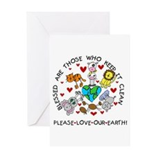 Earth Friendly Animals Greeting Card
