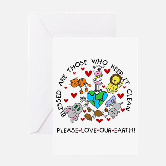 Earth Friendly Animals Greeting Card