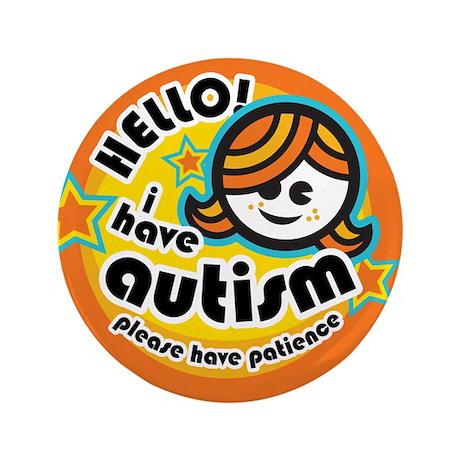 """Hello-Autism (Girl1) 3.5"""" Button"""