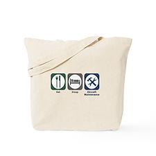 Eat Sleep Aircraft Maintenance Tote Bag