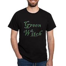 Green Witch text design T-Shirt