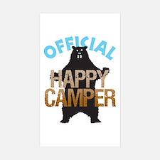Happy Camper Rectangle Sticker 10 pk)