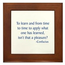 Confucius 11 Framed Tile