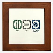 Eat Sleep Air Traffic Control Framed Tile
