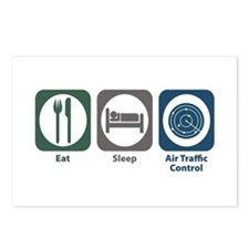 Eat Sleep Air Traffic Control Postcards (Package o