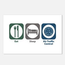 Eat Sleep Air Traffic Control Postcards (Package o