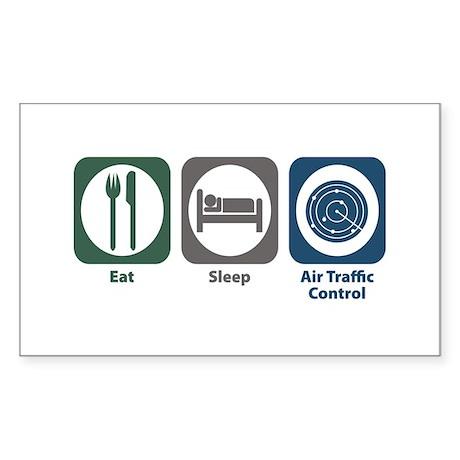 Eat Sleep Air Traffic Control Rectangle Sticker