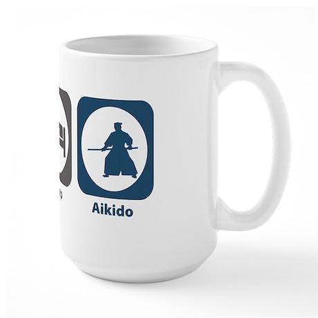 Eat Sleep Aikido Large Mug