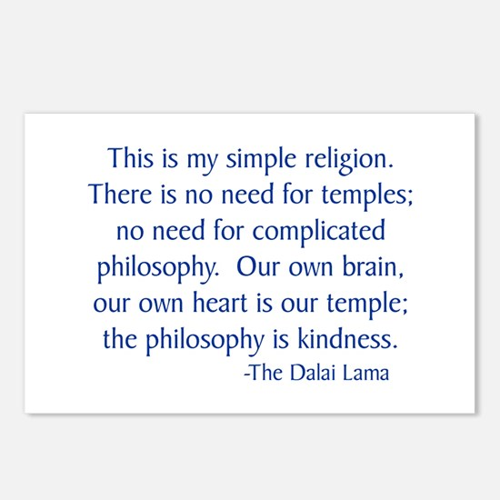 Dalai Lama 12 Postcards (Package of 8)