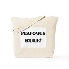 Peafowls Rule Tote Bag