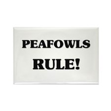 Peafowls Rule Rectangle Magnet