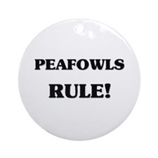 Peafowls Rule Ornament (Round)