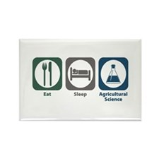 Eat Sleep Agricultural Science Rectangle Magnet