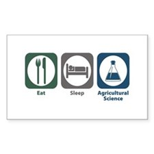 Eat Sleep Agricultural Science Rectangle Decal