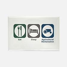 Eat Sleep Agricultural Mechanization Rectangle Mag